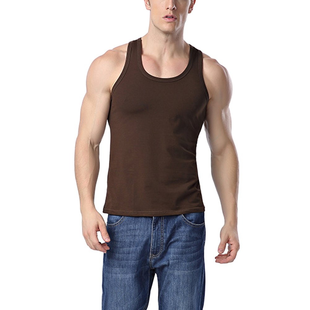 Zhuhaitf Quick-dry Men Vest Undershirt Breathable Cotton Elasticity Slim Tank Tops