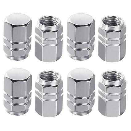 JMAF tapa de valvula de neumático de aluminio con estilo hexagonal, juego de 8 piezas