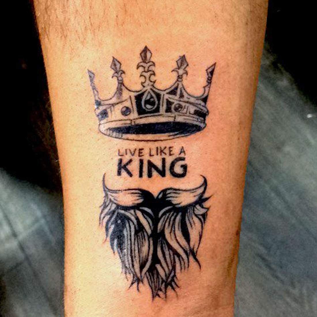 Voorkoms Like A King Mom Dad Men And Women Waterproof Temporary Body Tattoo Amazon In Beauty