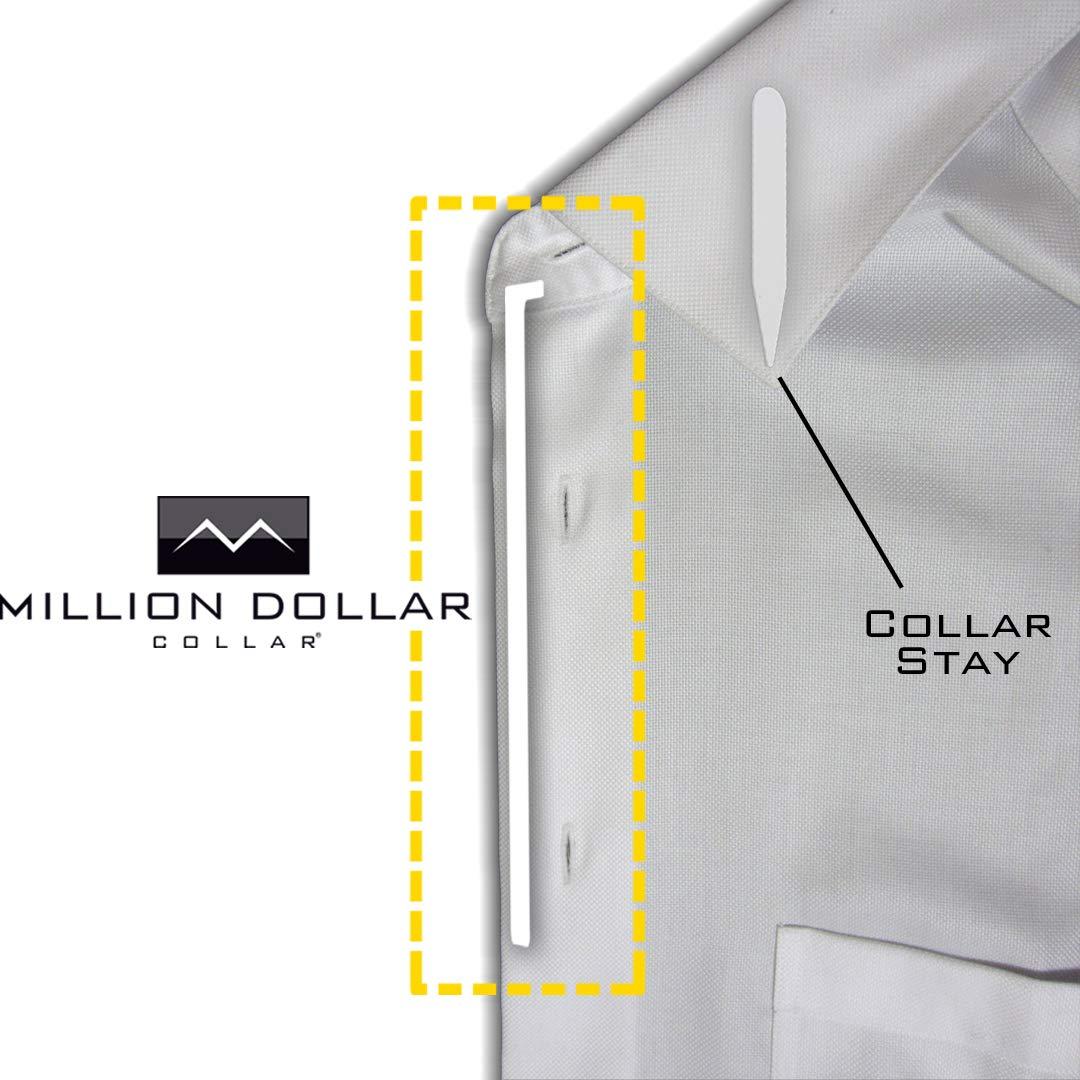 10 Million Dollar Collar Sewn In Dress Shirt Placket Stays