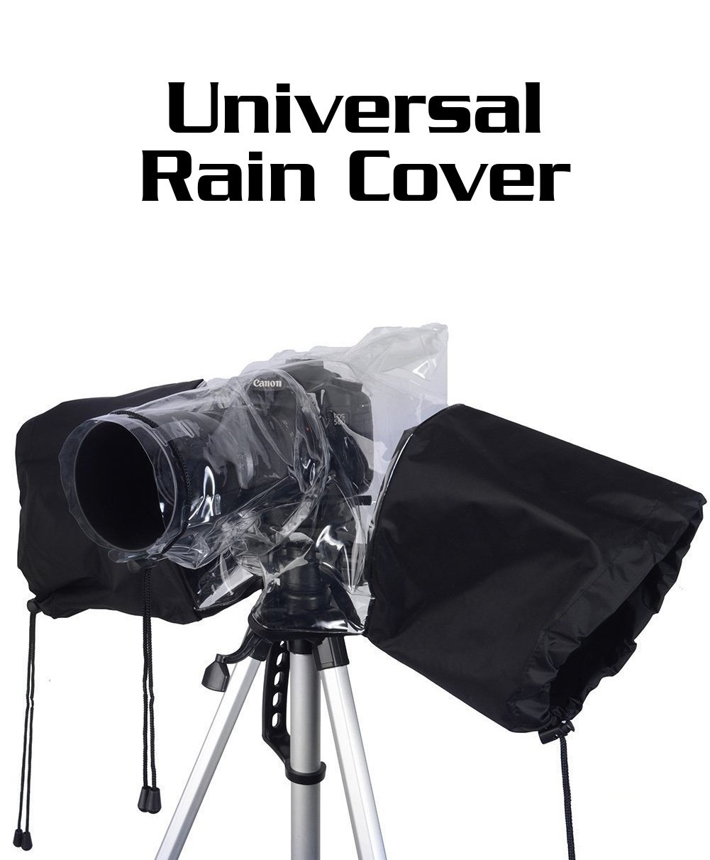 ** Camera Rain Cover ** Coat Protector Rainproof for Canon Nikon and Other Digital SLR Cameras (Fulat)