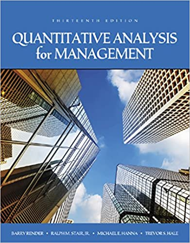AmazonCom Quantitative Analysis For Management Ebook Barry Render