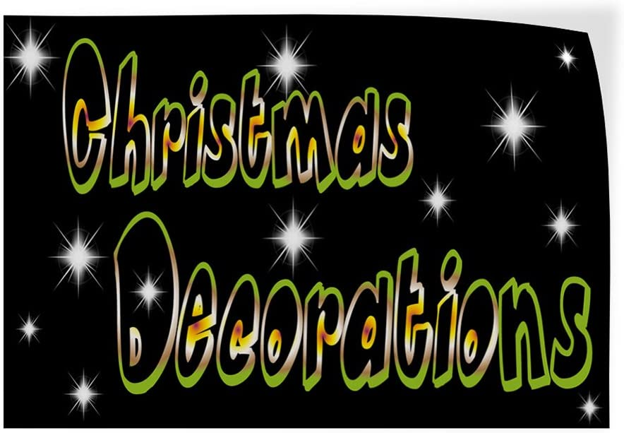 Set of 5 27inx18in Decal Sticker Multiple Sizes Christmas Decorations #1 Style C Holidays and Occasions Christmas Outdoor Store Sign Black