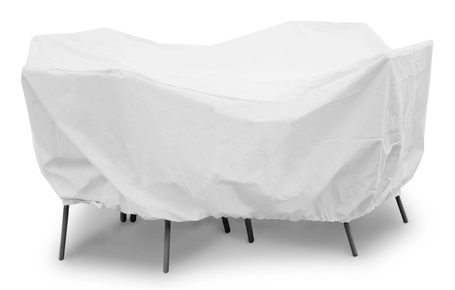 KoverRoos Weathermax 11262 80-Inch Round Table High Back Dining Set Cover, 114-Inch Diameter by 36-Inch Height, White by KOVERROOS