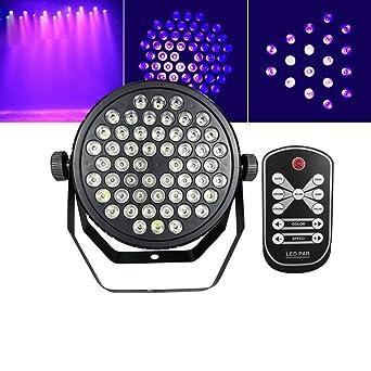 Luz de escenario LED Púrpura LED de escenario Luz de par para DJ ...