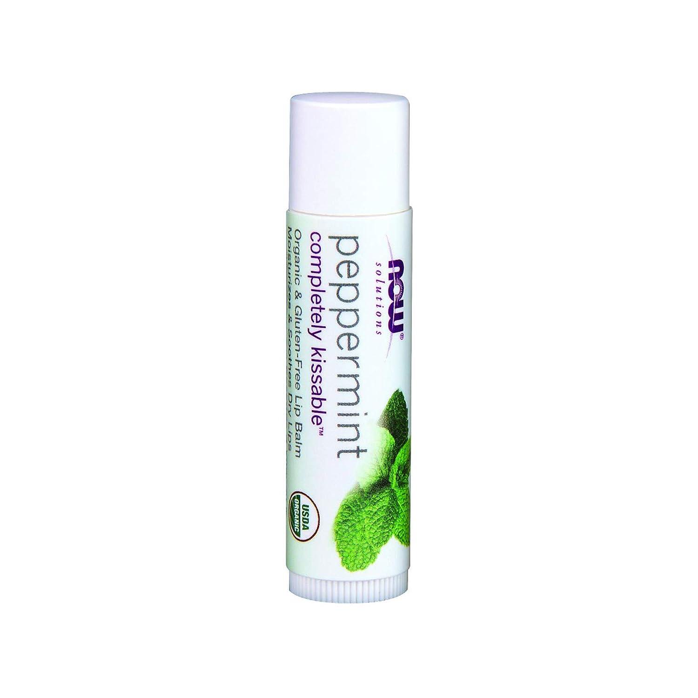 Peppermint Lip Balm Organic Now Foods 0.15 oz Balm