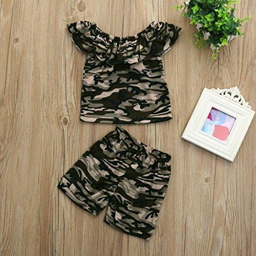 c8ffe1c3a Moonker Fashion Toddler Baby Boys Girls Summer Camouflage T Shirt Tops and  Shorts Outfits Clothes Set