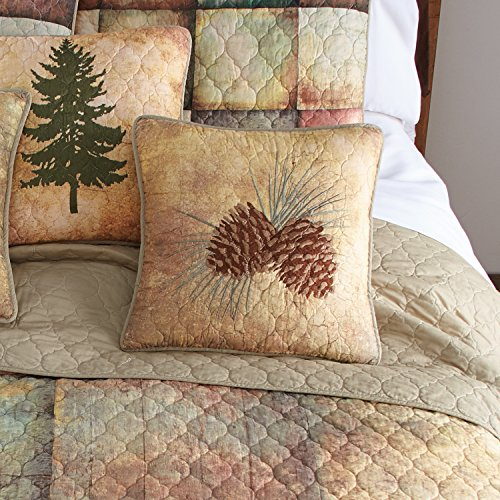 Patch Pinecone - Donna Sharp Wood Patch (Pinecone) Decorative Pillow