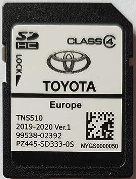 Tarjeta SD GPS Europe TNS510 Toyota 2019-2020 Ver.1 - PZ445 ...