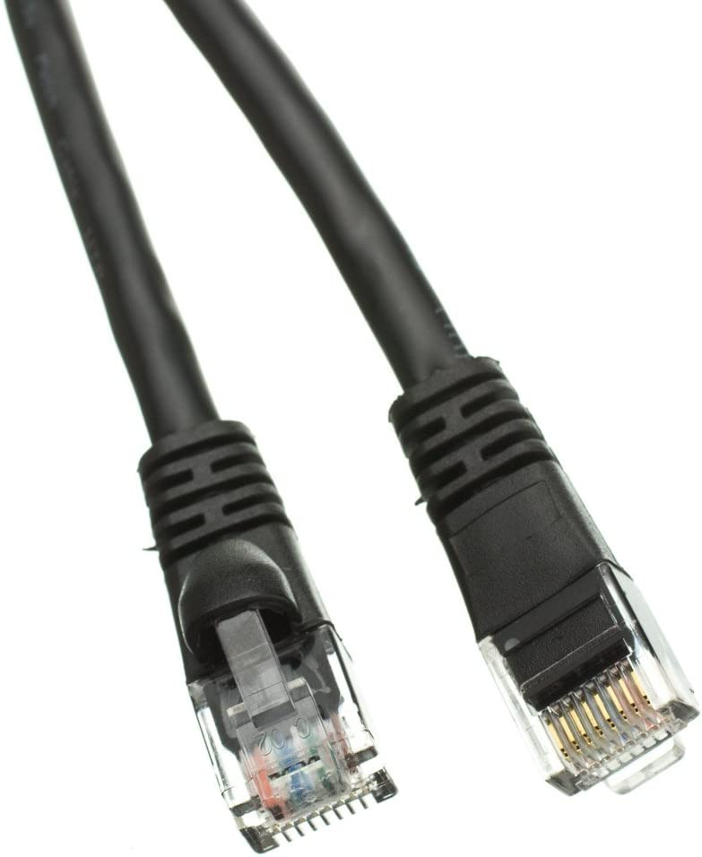Pack of 1 200 Cat5e Black Ethernet Patch Cable ED895602 Snagless//Molded Boot