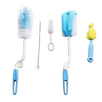5PCS Teapot Nozzle Spout Tube Nylon Cleaning Baby Milk Bottle Nipple Clean Brush