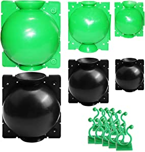Plant Root Growing Box, Air Layering Pods, Reusable Grafting Tool, 6 Packs, 3 Sizes, 2 Colors, with 20PCS Green Plant Clips, for Indoor & Outdoor