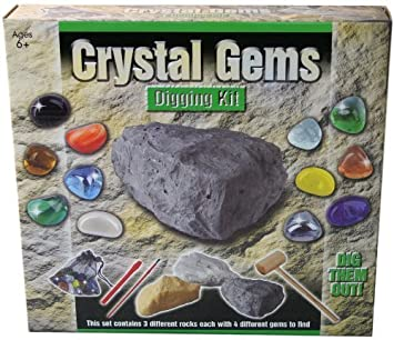 crystal gems digging excavation kit gemstones set amazon co uk