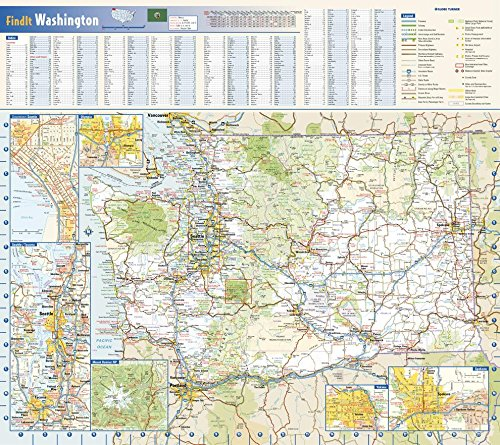 Washington State Wall Map - 20.75