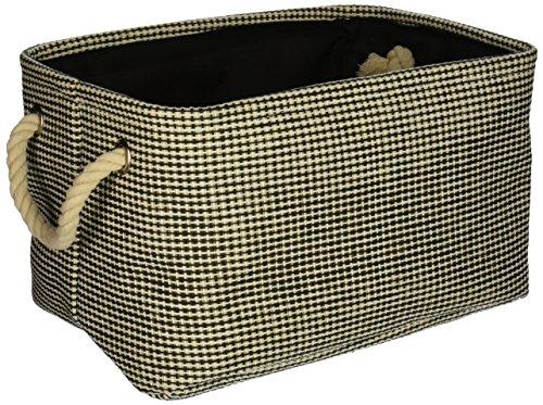HomeSource DAR003HB013AA Fabric Basket, 12.75''x 9''x 7'', Black by Home Source