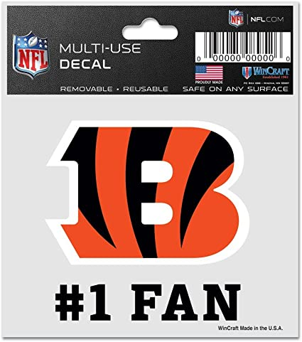 NFL Cincinnati Bengals 95477010 Multi-Use Decal 3 x 4