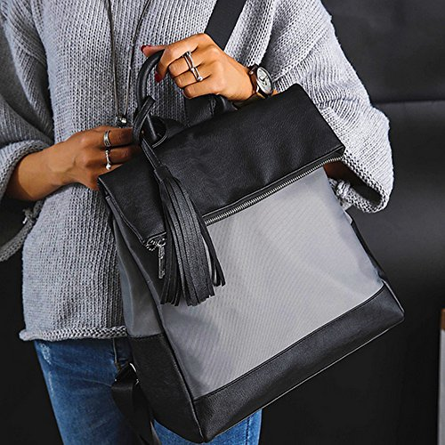 Tracolla ufficio Kronya Clutch e a School in borsa School da Zaino donna Borsetta Tote pelle da Schoolbag zaino tracolla Pochette Grigio Elegante Borsa donna da FRxFq8