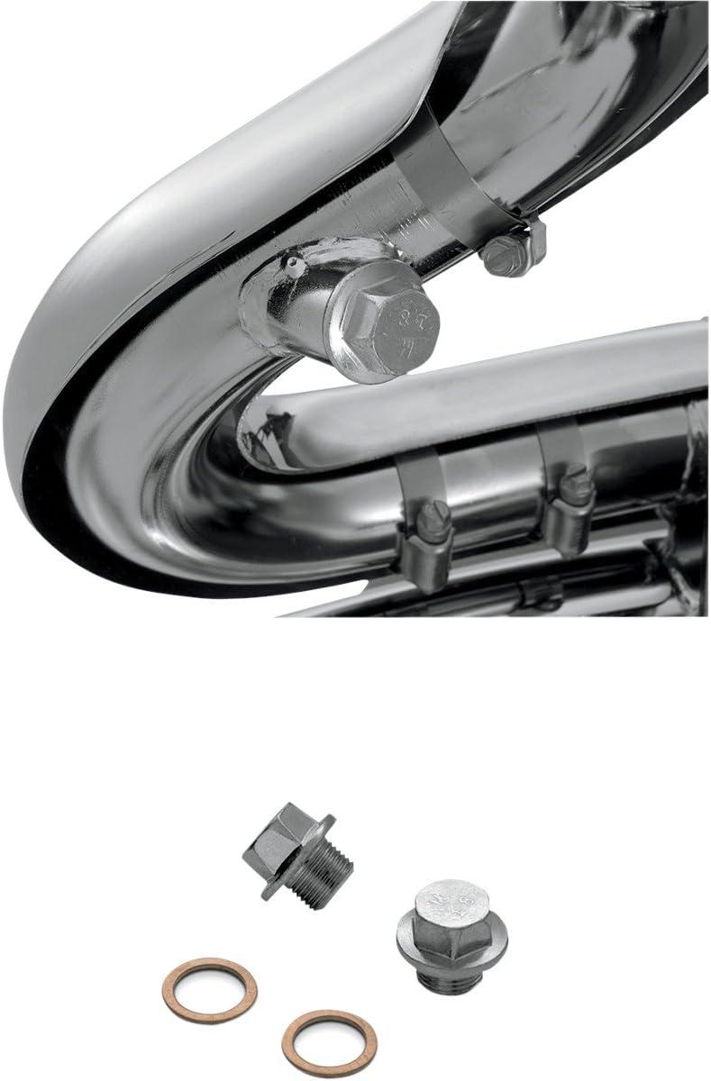 Vance /& Hines 16925 18mm X 1.5 Threaded O2 Sensor Port Plug Kit For Harley-David