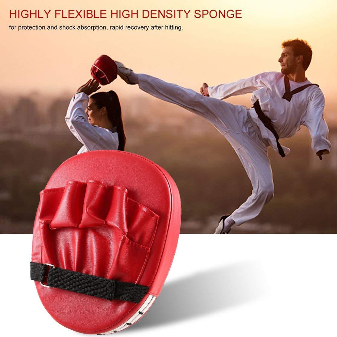 Color:Red Almohadillas de Objetivo de pu/ño de Mano Flexible Sanda Taekwondo pie de Entrenamiento Muay Thai MMA Boxeo de Mano Objetivo Karate Kung fu Pad