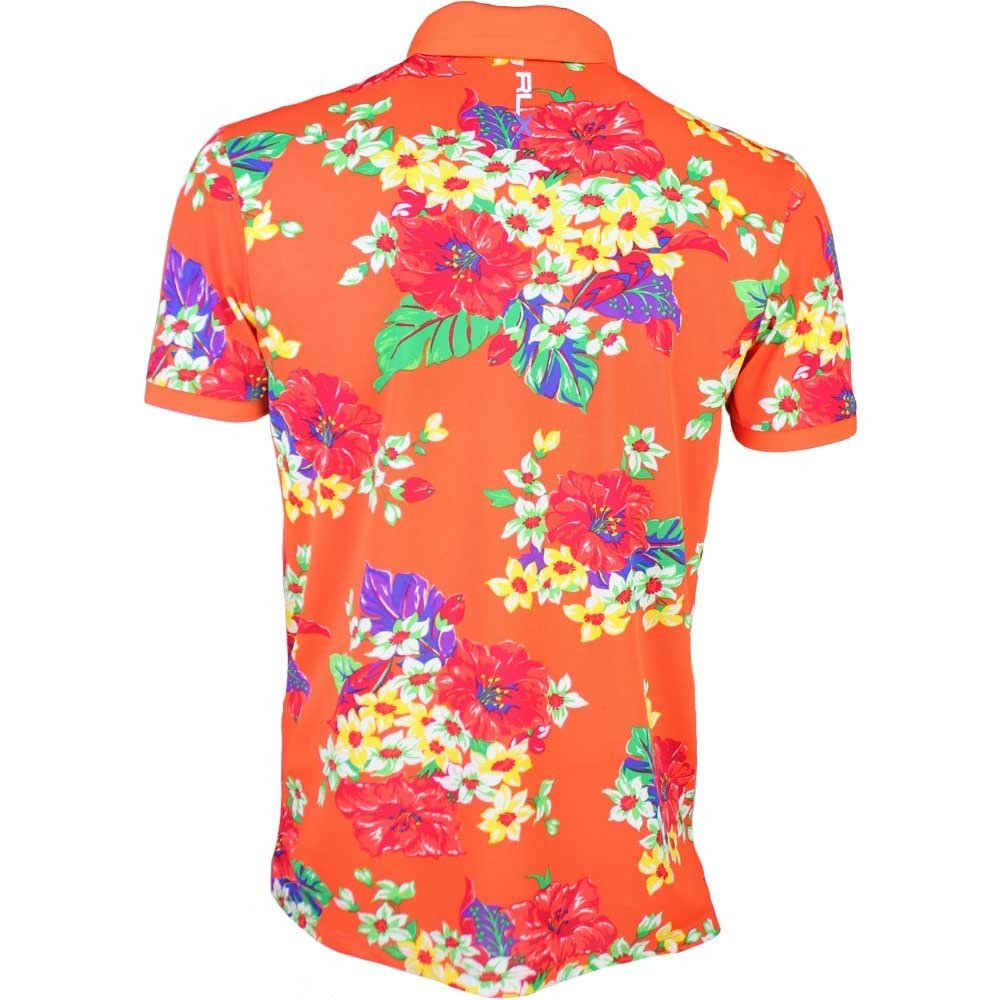 900093c5320c5a RLX Golf by Ralph Lauren Performance Airflow Floral Pro Fit Loud Polo Shirt  L  Amazon.ca  Clothing   Accessories