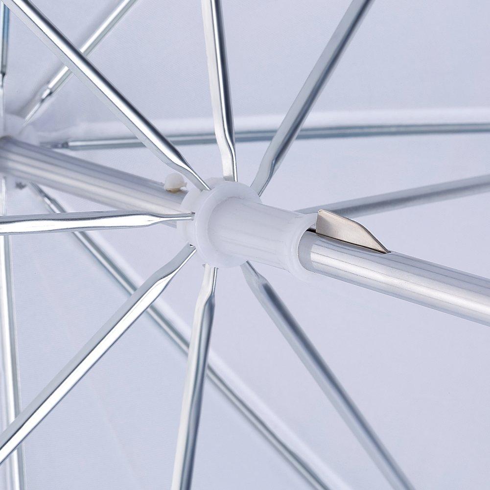 Neewer/® 2 unidades de 33// 84cm paraguas de fotograf/ía profesional iluminaci/ón reflectiva para estudio paraguas de blanco