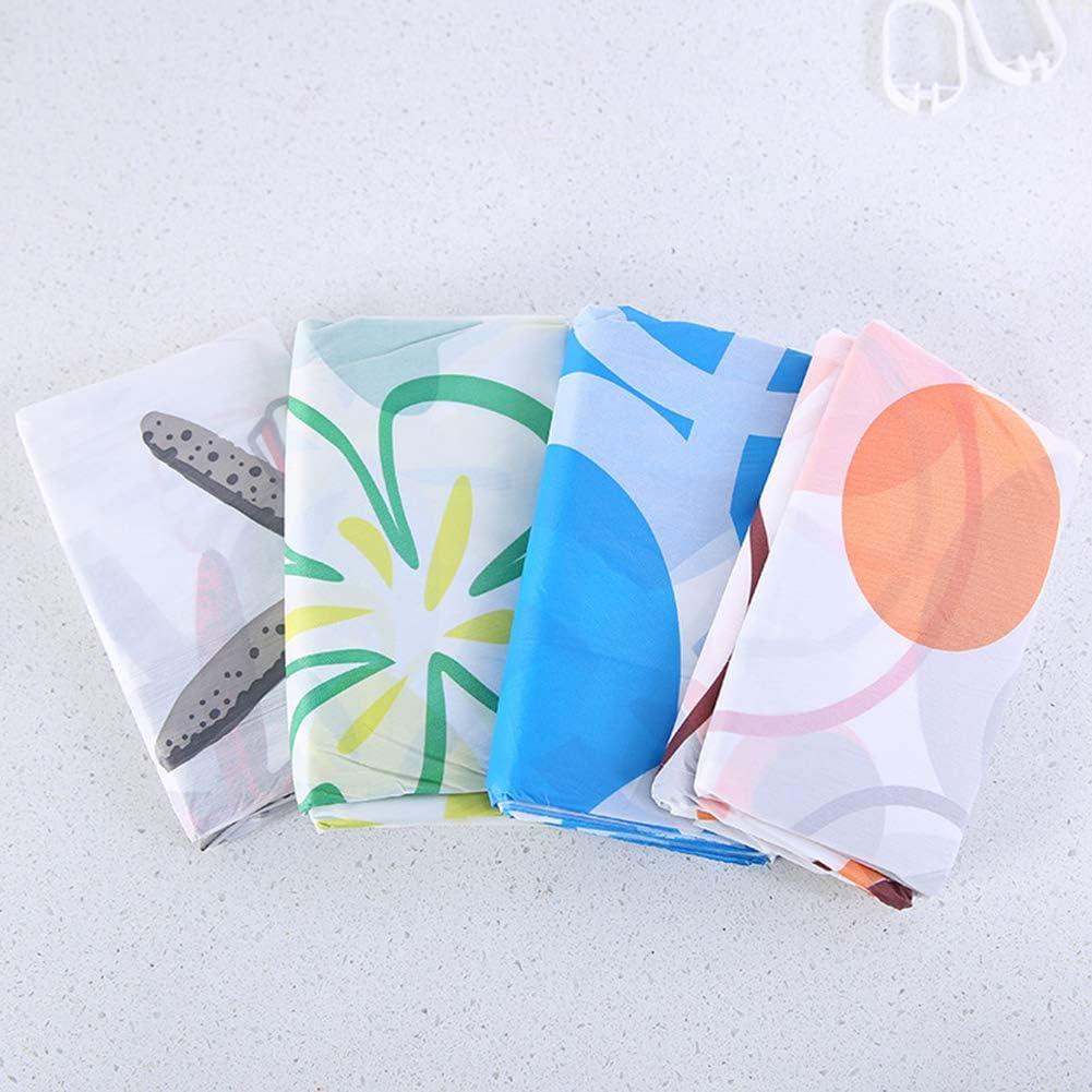 Random Color ZHOUBAA Zhouba Tenda da Doccia Impermeabile in PEVA Taglia Unica divisorio Drappeggio con Anello Resistente alla Muffa