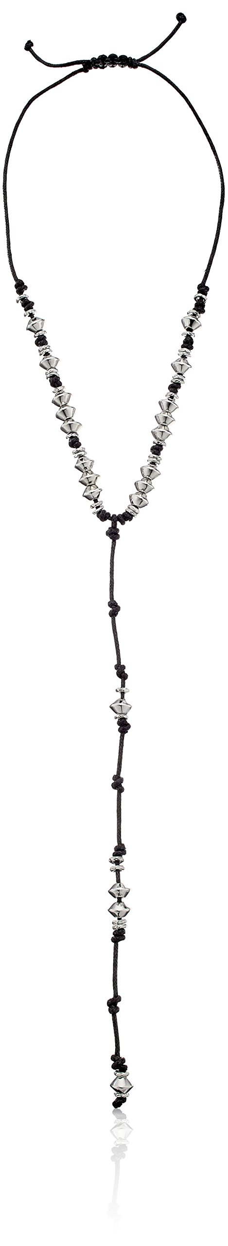 Sam Edelman Knotted Rhodium Bead Y-Shaped Necklace, 29''