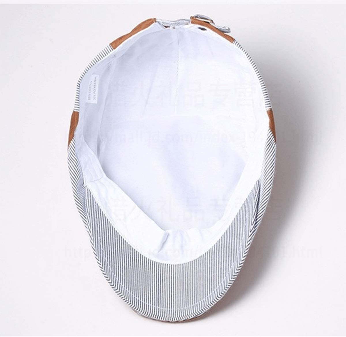Color : Cyan Ladies Outdoor Sun Hat Multi-Color Optional Adjustable Stylish Striped Hat 56-58cm hat Tongboshi Beret Spring and Summer Mens Casual Hat