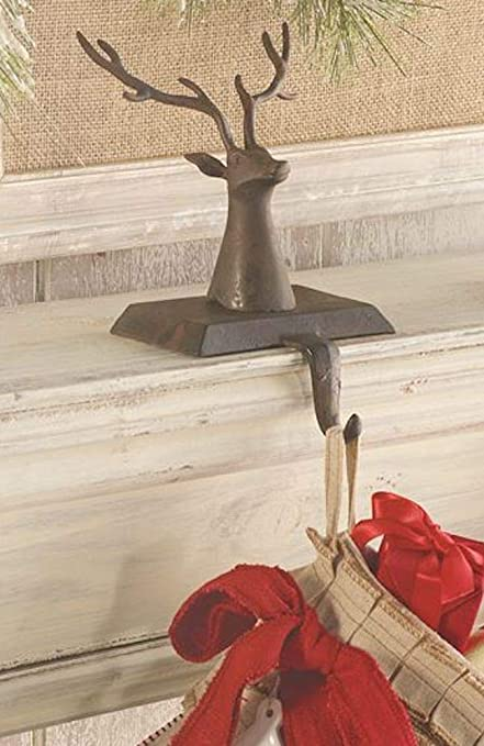 A Majestic Christmas Cast.Mud Pie Cast Iron Reindeer Christmas Stocking Holder Amazon