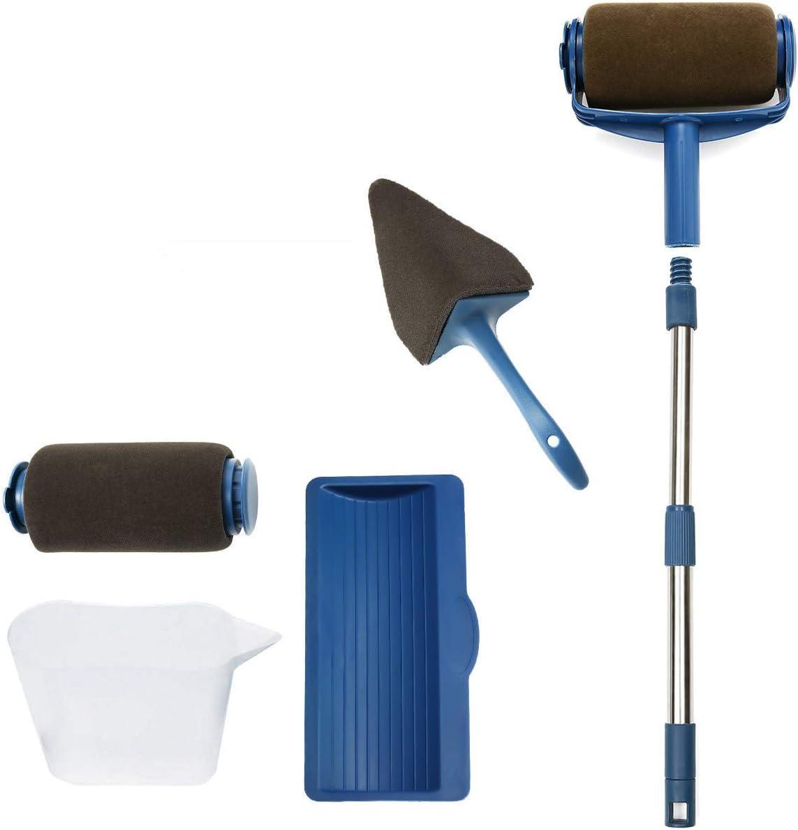 Charminer - Rodillo de pintura con depósito, rodillos de pintura profesional, kit de rodillo de pintura multifunción para pintura antigoteo para techo y paredes