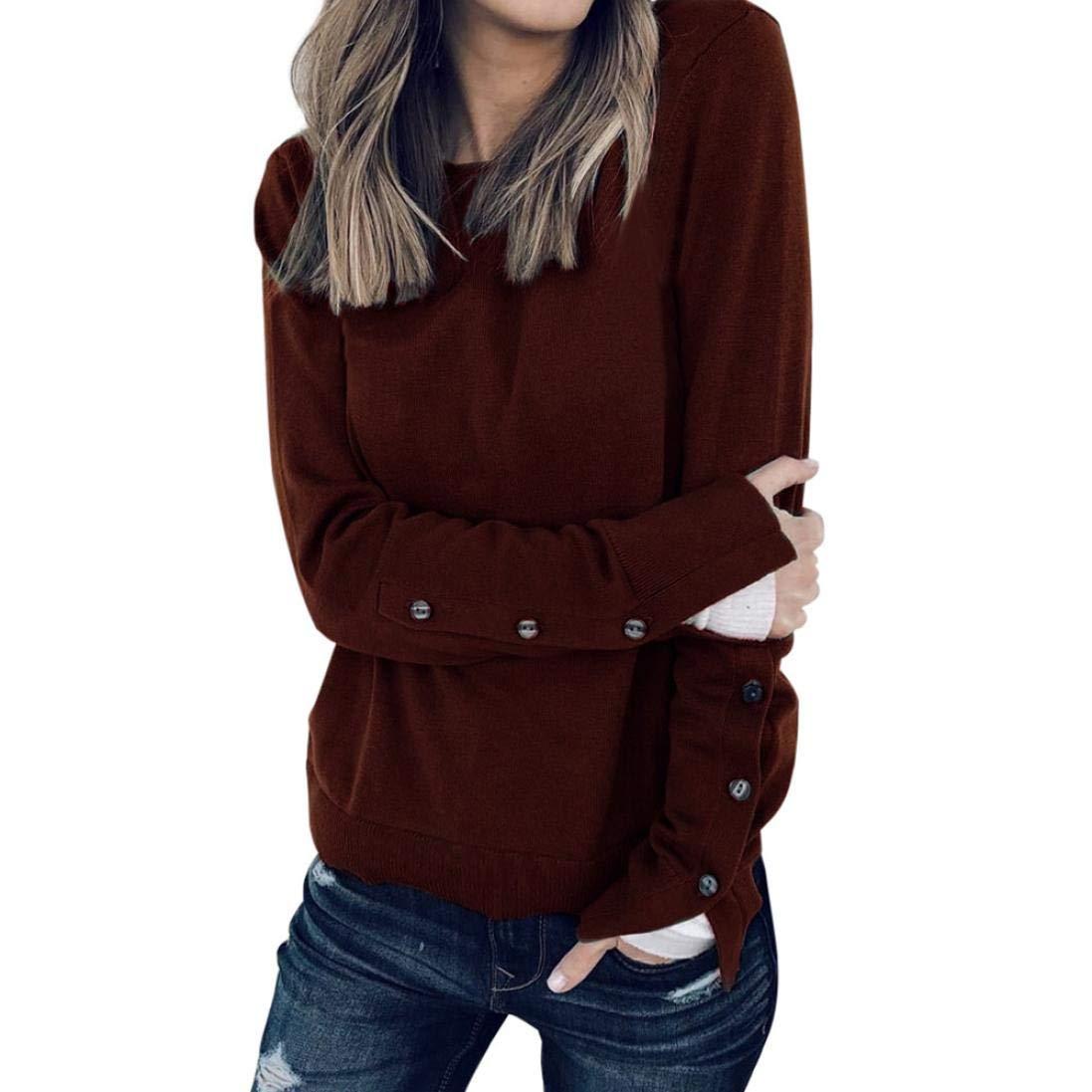 HWTOP Damen Oberteil Langarmshirt Hemd Bluse Streifen Pullover Aufdruck Sweatshirt V-Ausschnitt Tops Frauen Lose Top Sommer Freizeit Baumwolle Shirt Winter Warm Bleiben