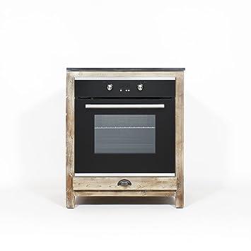 madeinmeubles meuble cuisine authentiq bois recycl 70cm pour four et plaques jc13