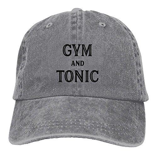 Women Tonic - Gym and Tonic Adjustable Washed Cap Cowboy Baseball Hat Ash