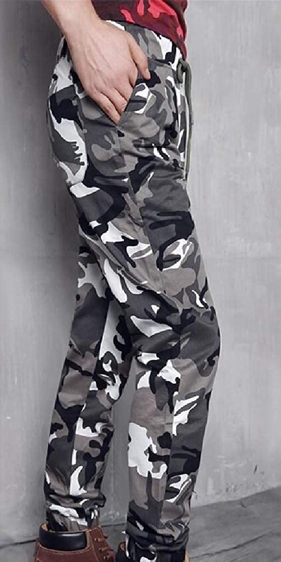 YUNY Men Camouflage Army Oversize Outdoor Elastic Bottom Work Pant 2 4XL