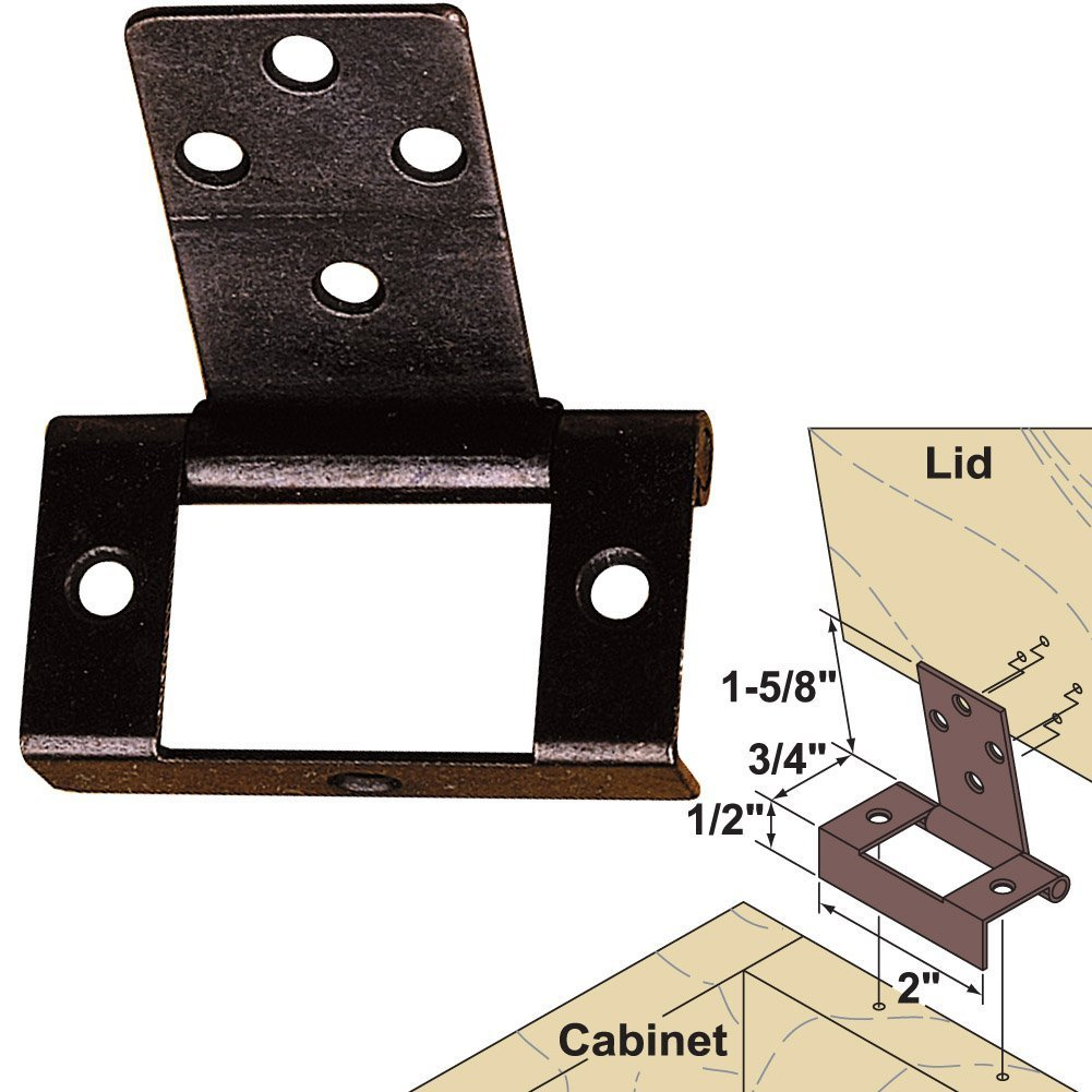 Tremendous Platte River 141548 Hardware Hinges Surface Mounted Non Mortise Lid Hinge Dark Bronze Interior Design Ideas Philsoteloinfo