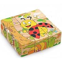 Debon ahşap-Puzzle küp-Form, Fruehbildungs-oyuncak bebek veya çocuk için