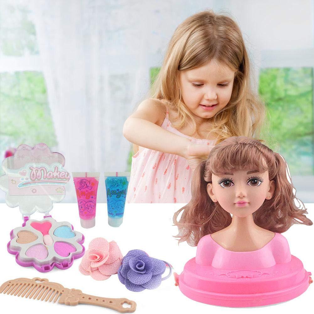 T/ête /À Coiffer Et Maquiller Maquillage pour Enfants Peigne Cheveux Poup/ée Fille Jouet Moiti/é du Corps Peut Se Maquiller Princesse De Coiffure Jouets pour Filles Traditionnelles