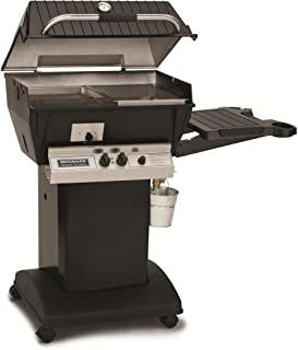 product image for Broilmaster Q3 Grill Head with Black Painted Cart, Drop Down Side Shelf, Liquid Propane