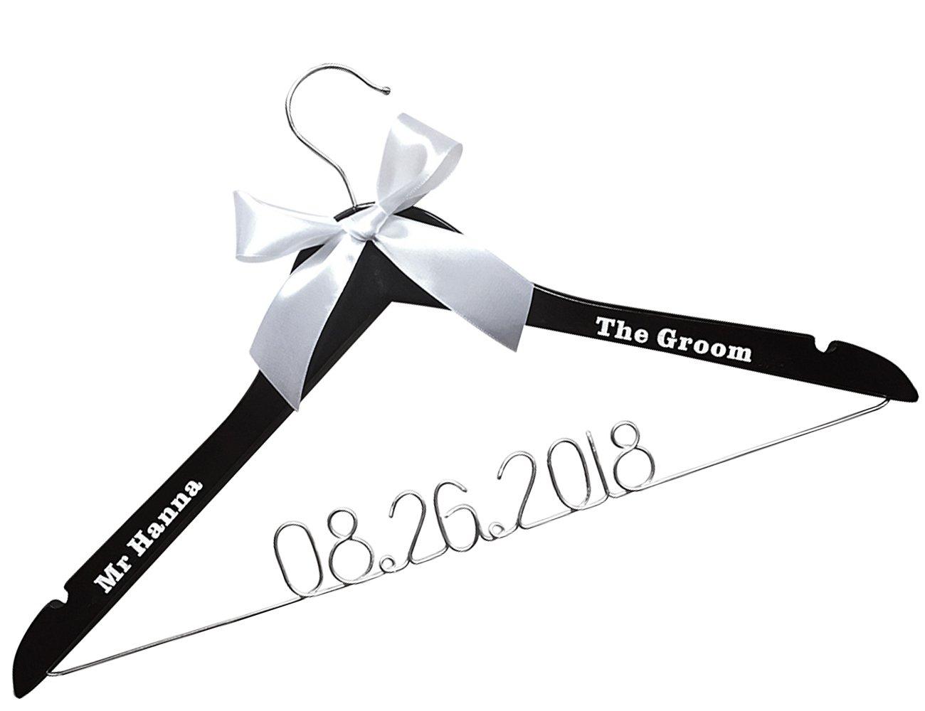 Custom Groom Personalized Bride Wedding Hangers-Custom Personalized Bridal Dress Hanger Gifts for Bride Mother of the Bride's Gifts gifts for groom etnecklace