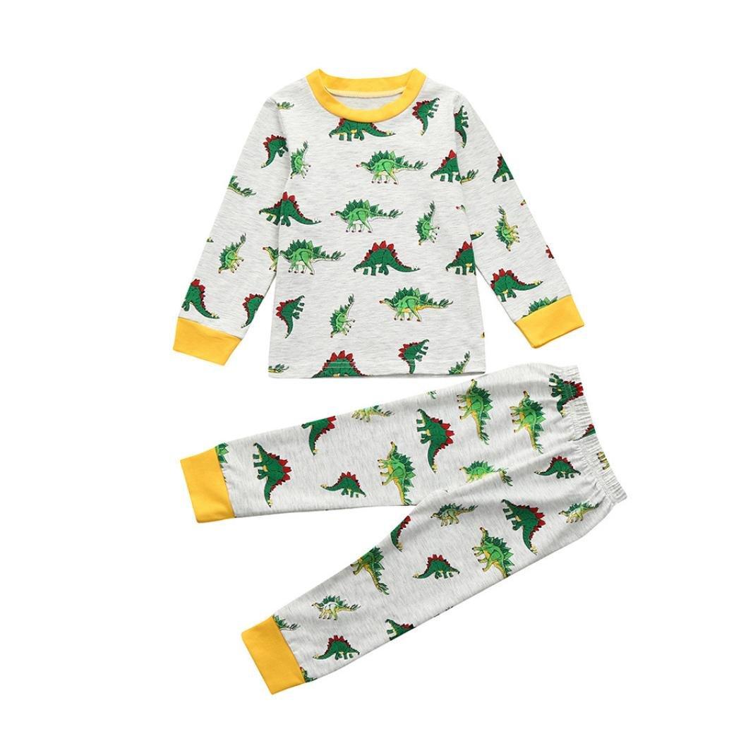Mounter Pyjamas Ensemble Bébé, Fille Garçon Manches Longue [ Dinosaure ] Costume de Accueil