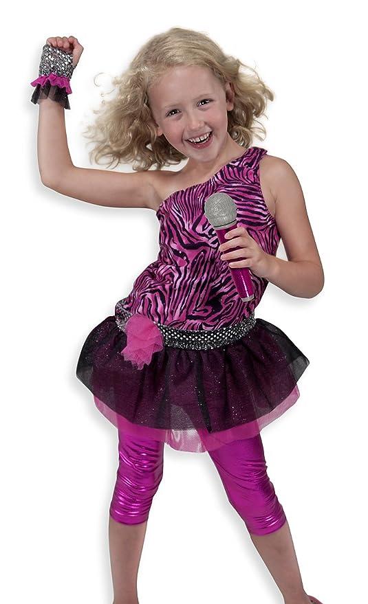Melissa u0026 Doug Rock Star Role Play Costume Set (4 pcs) - Includes Zebra  sc 1 st  Amazon.com & Amazon.com: Melissa u0026 Doug Rock Star Role Play Costume Set (4 pcs ...