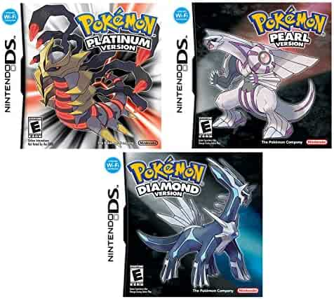 Nintendo DS Pokemon Platinum, Diamond and Pearl Version Video Games Bundle - All Three Versions!