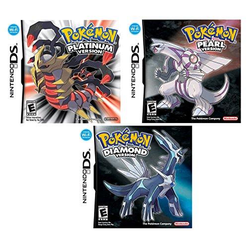 Nintendo DS Pokemon Platinum, Diamond and Pearl Version Video Games Bundle - All Three (Pokemon Diamond Ds)