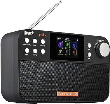Docooler GTmedia Z3B Radio Dab portátil Radio FM Radio Digital Altavoz BT USB Batería Recargable con Dos Altavoces Pantalla TFT-LCD: Amazon.es: Electrónica