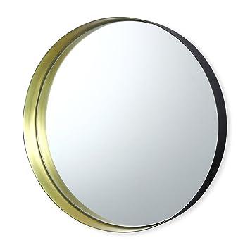 Amazon De Spiegel Rund Aus Metall Farbe Gold 31 Cm Romy Bruno