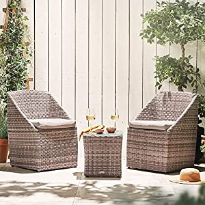 VonHaus-Rattan-Bistro-Set--2-Seater-Coffee-Table-and-Chairs-With-Cushions--For-Garden-or-Outdoors