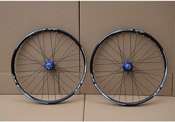 MZPWJD MTB Juego Ruedas Bicicleta 26 27.5 29 In Rueda Bicicleta Montaña Llanta Aleación Doble Capa Rodamiento Sellado 7-11 Velocidad Cassette Hub Freno Disco 1100g QR: Amazon.es: Deportes y aire libre
