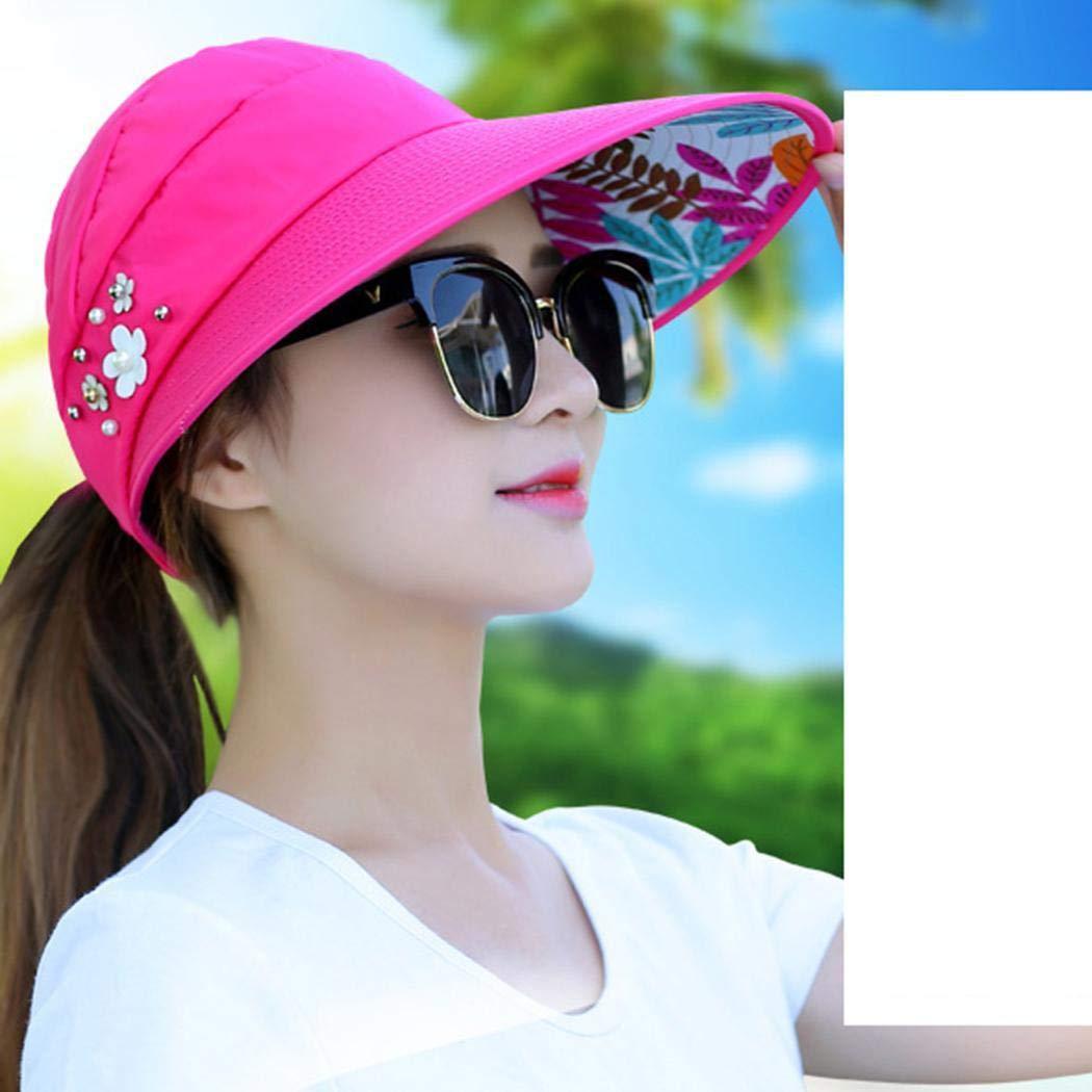 etuoji Women Fashion Print Breathable Fastening Tape Sunscreen Sun Cap,Summer Sun Hat