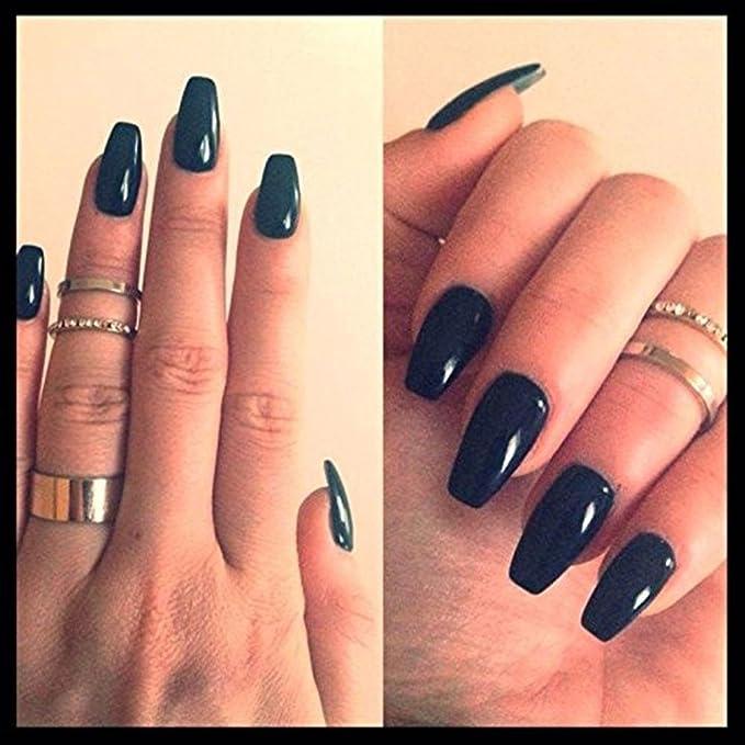 Puntas de uñas claras, Leegoal (TM) Ballerina Natural Coffin uñas de cubierta completa falsas uñas artificiales, 10 tamaños para salones de uñas y bricolaje ...