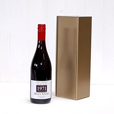 Personalised Premium Fine Red Wine 750ml Gold Gift Box Ideas For Valentines
